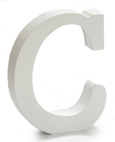 Letras de madera blanca para devoraci/ón 11x1.2 cm H