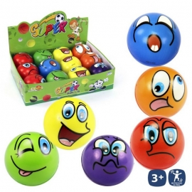 Pelota Emoticonos Foam 10 cms