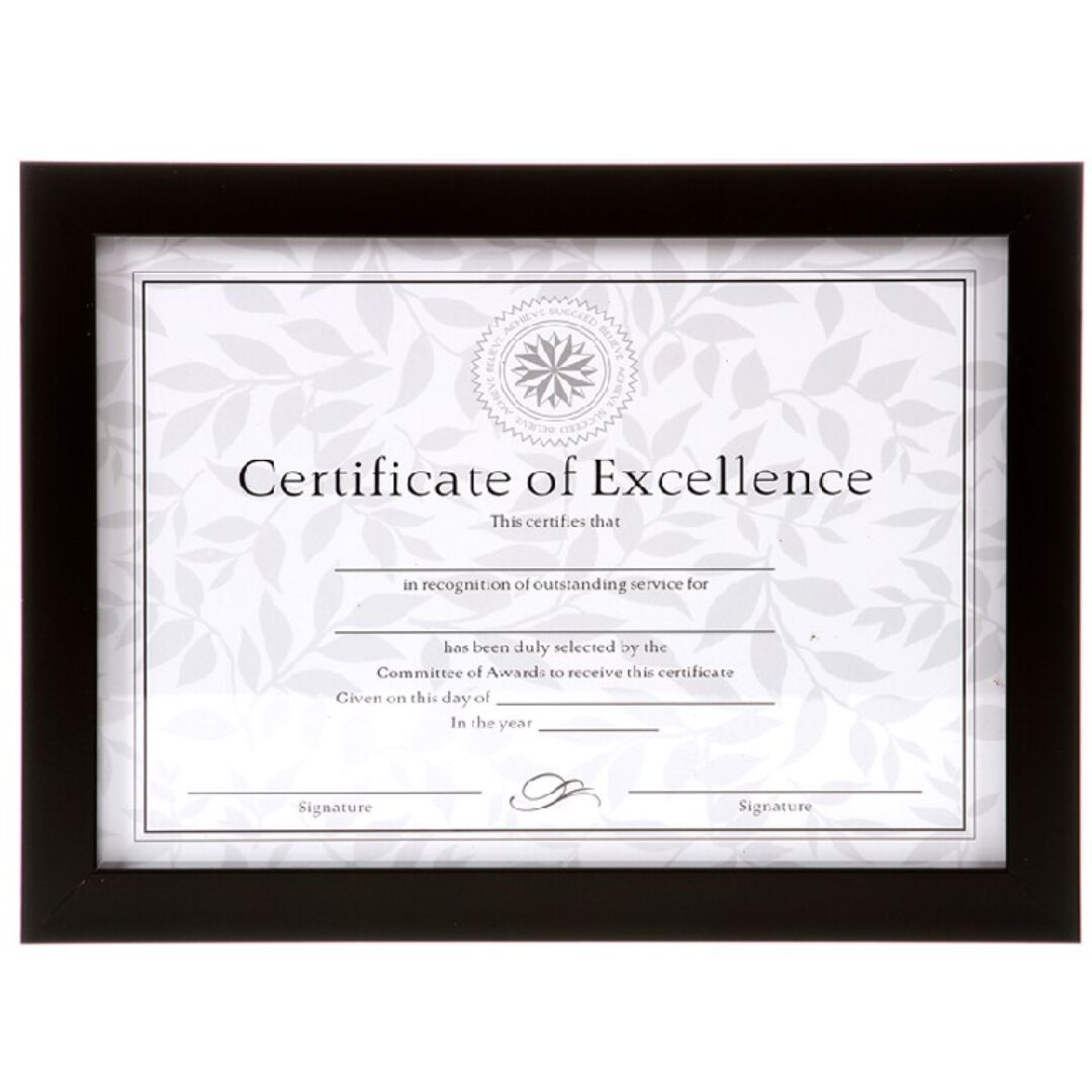 Marco para Diploma Negro 21x30 cms | Conchi Decoración