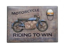 Cuadro Mural Metal Moto Riding To Win
