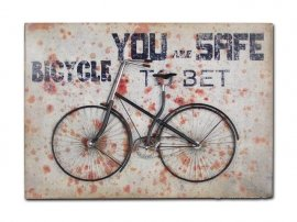Cuadro Mural Metal Bici You Safe