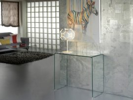 Consola Glass Transparente 90cms