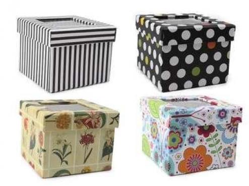 Cestas y canastos conchi decoraci n - Cajas carton decoradas ...